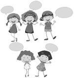 Discurso de los niños Foto de archivo