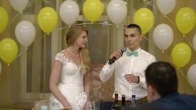 Discurso de novia y del novio almacen de video