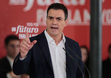 Discurso 022 de Pedro Sánchez Imagens de Stock