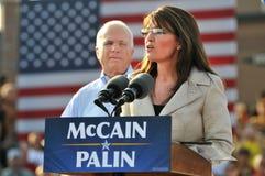 Discurso de Sarah Palin Imágenes de archivo libres de regalías