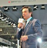 Discurso del ejecutivo de Renault Fotografía de archivo