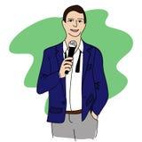 Discurso do homem ilustração stock