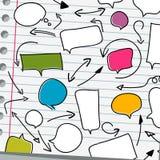 Discurso e setas da bolha no branco Imagem de Stock Royalty Free