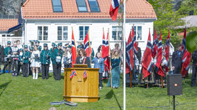 Discurso noruego de la celebración del 17 de mayo Imagen de archivo libre de regalías