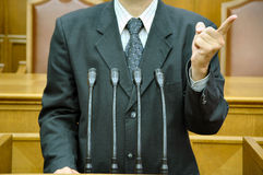 Discurso parlamentar Foto de Stock