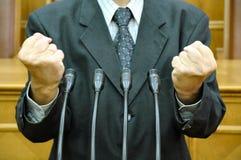 Discurso parlamentario Foto de archivo
