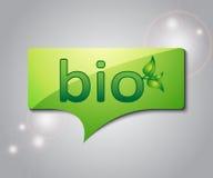 Discurso verde da bolha Fotos de Stock