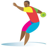 Discus. Athlete vector illustration