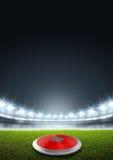 Discus In Generic Floodlit Stadium Royalty Free Stock Photo