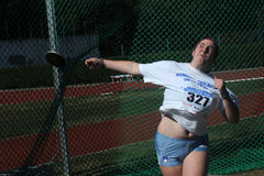 Discus throw Stock Photography