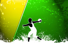 Discus Throw background. Discus Throw sport invitation advert background with empty space Stock Photos