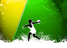 Discus Throw background. Discus Throw sport invitation advert background with empty space Royalty Free Stock Photos