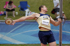 Discus throw male canada release Royalty Free Stock Photo