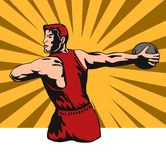 Discus thrower. Vector art on the decathlon sport royalty free illustration