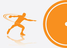 Discus thrower background. Vector illustration of discus thrower Stock Photos