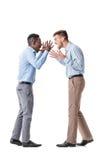 Discusión de dos hombres de negocios fotografía de archivo