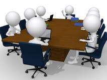 Discusión de grupo sobre una reunión de negocios Imágenes de archivo libres de regalías