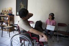 Discusión de la juventud de la inhabilidad Foto de archivo libre de regalías