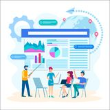 Discusión de la optimización de las tecnologías de la web libre illustration