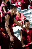 Discusión de monjes Imagen de archivo libre de regalías