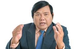 Discusión del hombre de negocios Foto de archivo libre de regalías