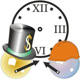 Discusión del tiempo Foto de archivo libre de regalías