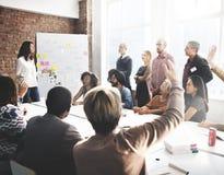 Discusión Team Concept de la reunión del viaje de negocios Fotografía de archivo libre de regalías