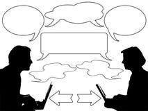 Discusión y comunicación Stock de ilustración