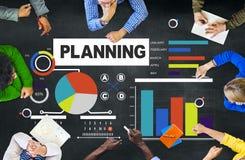 Discusión Concep de la reunión de reflexión de la estrategia del planeamiento de la unidad de negocio Imagen de archivo