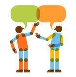 Discusión de dos personas Imagenes de archivo