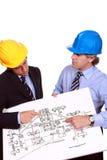 Discusión de los arquitectos Imagen de archivo libre de regalías