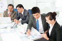 Discussão Foto de Stock