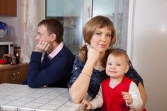 Discussão da família Imagens de Stock Royalty Free