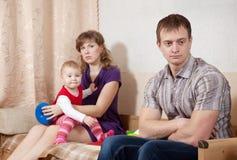 Discussão da família Foto de Stock Royalty Free