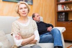 Discussão da família Fotografia de Stock Royalty Free