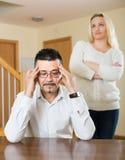 Discussão da família em casa Fotos de Stock Royalty Free
