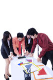 Discussão da reunião da equipe do negócio - isolada Imagem de Stock Royalty Free