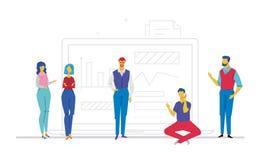 Discussão do negócio - ilustração colorida do estilo liso do projeto Fotografia de Stock