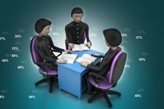 Discussão do professor e dos estudantes Imagem de Stock Royalty Free