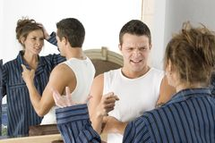 Discussão dos amantes Imagem de Stock Royalty Free