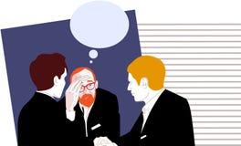 Discussão dos colegas dos homens de negócios imagem de stock