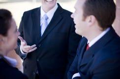 Discussão dos empresários imagem de stock royalty free
