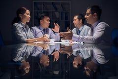Discussão emocional Fotografia de Stock Royalty Free