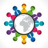 Discussão global ilustração do vetor