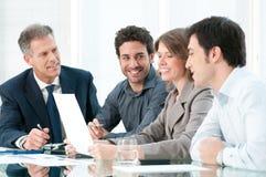 Discussão positiva do negócio Fotografia de Stock