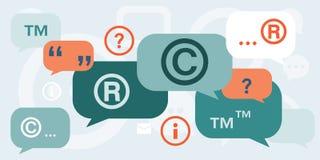 Discussão sobre direitos reservados ilustração stock