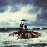Discussão Team Safety Security Concept dos homens de negócios foto de stock royalty free