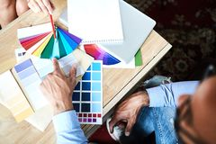 Discussing blue hint royalty free stock image