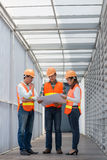 Discussing building plan Stock Photography
