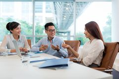 Discussing business ideas Royalty Free Stock Photo